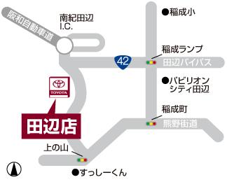 田辺店マップ